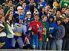 Oct. 29, 2011; Students dress in superhero costumes at the Navy game, 2011...Photo by Matt Cashore