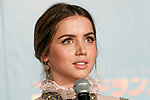 Cuban actress Ana de Armas speaks during a Japan Premiere for the film Blade Runner 2049 on October 24, 2017, Tokyo, Japan. Ana de Armas, along with actor Harrison Ford, director Denis Villeneuve and actress Sylvia Hoeks, greeted the fans at the event. The movie Japanese theaters on October 27. (Photo by Rodrigo Reyes Marin/AFLO)