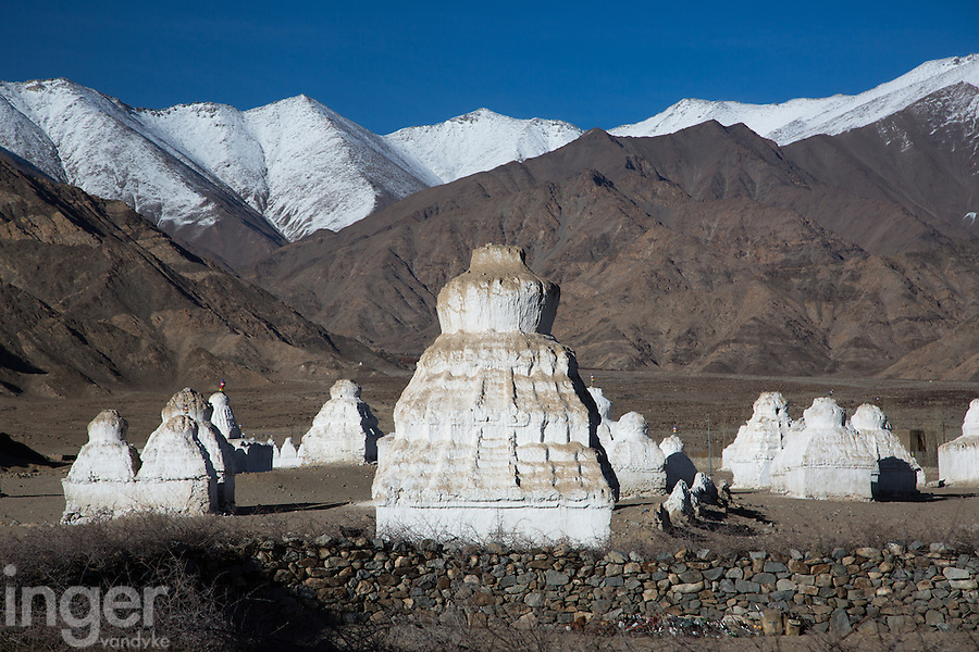 Chortens near Shey Monastery outside Leh, Ladakh