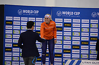 SPEEDSKATING: SALT LAKE CITY: Utah Olympic Oval, 10-03-2019, ISU World Cup Finals, Podium World Cup Mass Start Ladies, Irene Schouten (NED), ©Martin de Jong