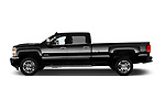 Car Driver side profile view of a 2017 Chevrolet Silverado-2500Hd High-Country-Crew-LWB 4 Door Pickup Side View