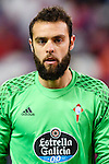 Goalkeeper Sergio Alvarez Conde of RC Celta de Vigo looks on during their La Liga match between Atletico de Madrid and RC Celta de Vigo at the Vicente Calderón Stadium on 12 February 2017 in Madrid, Spain. Photo by Diego Gonzalez Souto / Power Sport Images