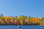 Fall foliage on Flagstaff Lake in the Bigelow Preserve in Carrabassett Valley, ME, USA