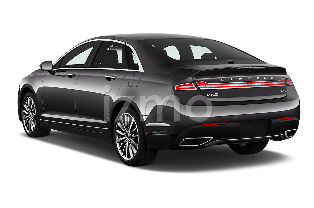 Car pictures of rear three quarter view of 2018 Lincoln MKZ Select 4 Door Sedan Angular Rear