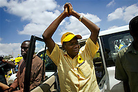 Opposition presidential candidate and former Zanu PF MP Simba Makoni at a rally in Harare the week before the 29 March 2008 General Elections...