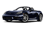 Stock pictures of low aggressive front three quarter view of a 2019 Porsche 718 Boxster Base 2 Door Convertible