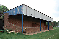 Main stand at Queensmen FC Football Ground, Lawrence Park, Woburn Road, Ampthill, Bedfordshire, pictured on 3rd May 1994