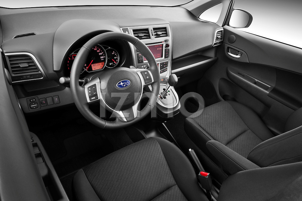 High angle dashboard view of a 2011 Subaru Trezia Comfort 5 Door Hatchback