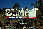 Neil Young billboard for the record Zuma on the Sunset Strip in West Hollywood