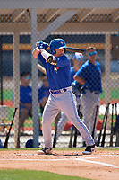 Toronto Blue Jays Davis Schneider (17) during a Minor League Spring Training game against the Detroit Tigers on March 22, 2019 at the TigerTown Complex in Lakeland, Florida.  (Mike Janes/Four Seam Images)