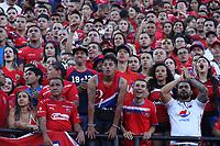 MEDELLÍN- COLOMBIA, 16-12-2018.Hinchas del Independiente Medellín durante el encuentro entre los equipos Independiente Medellín y el Atlético Junior   partido por la final  de la Liga Águila II 2018 jugado en el Estadio Atanasio Girardot de la ciudad de Medellín. / Fans of  Independiente Medellin during match agaisnt of  Atletico Junior  during the final  match of the Liga Águila II 2018 played at the Atanasio Girardot Stadium in the city of Medellín. . Photo: VizzorImage / Felipe Caicedo / Staff