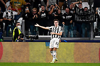 29th September 2021; Turin, Italy;   Juventus FC versus Chelsea FC - UEFA Champions League;  Federico Chiesa of Juventus FC celebrates after scoring his goal during the UEFA Champions League football match