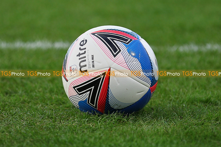 Match ball Mitre Delta Max during Crawley Town vs Barrow, Sky Bet EFL League 2 Football at Broadfield Stadium on 12th December 2020