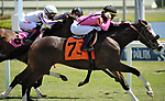 MARCH 27, 2021: #7 I GET IT and Jockey Jose Ortiz steal the sixth running of $100,000 Sanibel Island Stakes for Trainer Ronald Spatz and Owner Gary Barber on Florida Derby Day at Gulfstream in Hallandale Beach, Florida on March 27, 2021. Carson Dennis/Eclipse Sportswire/CSM