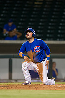 AZL Cubs third baseman Cam Balego (82) scores a run during a game against the AZL Athletics on August 9, 2017 at Sloan Park in Mesa, Arizona. AZL Athletics defeated the AZL Cubs 7-2. (Zachary Lucy/Four Seam Images)