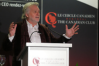 Gilbert Rozon, President Founder of Just for Laughs Group deliver a speech to the Canadian Club of Montreal,Monday, October 5, 2015.<br /> <br /> PHOTO : Pierre Roussel - Agence Quebec Presse