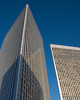 Century City, CA office buildings / towers with deep blue sky