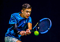 Hilversum, Netherlands, December 3, 2017, Winter Youth Circuit Masters, 12,14,and 16, years, Jay Zwinkels  (NED)<br /> Photo: Tennisimages/Henk Koster