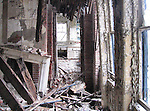 Interior destruction, Admiral's Row, Brooklyn Navy Yard, Brooklyn, New York