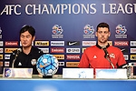 The coach and one of the players of FC Seoul (KOR) speak at the press conference on 22 February 2016, one day before the 2016 AFC Champions League Group F Match Day 1 match between BURIRAM UNITED (THA) vs FC SEOUL (KOR) in Buriram, Thailand.