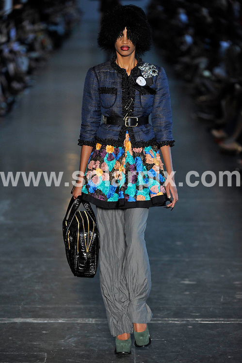 **ALL ROUND PICTURES FROM SOLARPIX.COM**.**SYNDICATION RIGHTS FOR UK AND SPAIN ONLY**.models at the Fause Haten Winter 2010 catwalk fashion show during the Sao Paulo Fashion Week. Sao Paulo, Brazil. 18 January 2010..This pic: Fause Haten show..JOB REF: 10494 PRT        DATE: 18_01_2010.**MUST CREDIT SOLARPIX.COM OR DOUBLE FEE WILL BE CHARGED**.**MUST NOTIFY SOLARPIX OF ONLINE USAGE**.**CALL US ON: +34 952 811 768 or LOW RATE FROM UK 0844 617 7637**