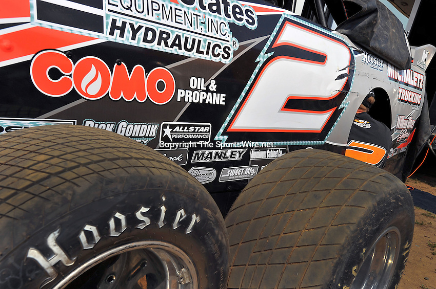 Aug 5, 2010; 3:20:33 PM; New Richmond, WI., USA; The 23rd Annual USA Nationals presented by U.S. Steel Corporation running a 50,000-to-win World of Outlaws Dirt Late Model Series sanctioned event at Cedar Lake Speedway.  Mandatory Credit: (thesportswire.net)