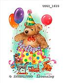 GIORDANO, CUTE ANIMALS, LUSTIGE TIERE, ANIMALITOS DIVERTIDOS, Teddies, paintings+++++,USGI1610,#AC# teddy bears