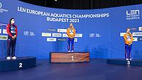 Gold Medal<br /> TOUSSAINTKira NED<br /> Silver Medal<br /> DAWSONKathleen GBR<br /> Bronze Medal<br /> DE WAARDMaaike NED<br /> 50m Backstroke Women<br /> Swimming<br /> Budapest  - Hungary  19/5/2021<br /> Duna Arena<br /> XXXV LEN European Aquatic Championships<br /> Photo Giorgio Scala / Deepbluemedia / Insidefoto