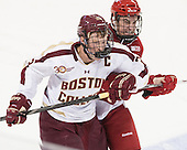 Patrick Brown (BC - 23), ? - The Boston College Eagles defeated the visiting University of Wisconsin Badgers 9-2 on Friday, October 18, 2013, at Kelley Rink in Conte Forum in Chestnut Hill, Massachusetts.