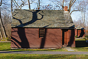 York Corner Schoolhouse in York, Maine during the autumn months. This schoolhouse was originally built in 1745.
