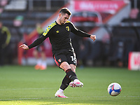 31st October 2020; Vitality Stadium, Bournemouth, Dorset, England; English Football League Championship Football, Bournemouth Athletic versus Derby County; Lewis Cook of Bournemouth warms up