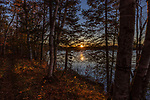 Sunset along the shore of Black Lake in northern Wisconsin.