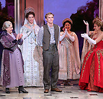 """Judy Kaye and Christy Altomare with Cody Simpson making his Broadway Debut Bows in """"Anastasia"""" at the Broadhurst Theatre on November 29, 2018 in New York City."""