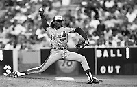 Pascual Perez of the Montreal Expos during a 1989 season game at Dodger  Stadium in Los Angeles,California.(Larry Goren/Four Seam Images)