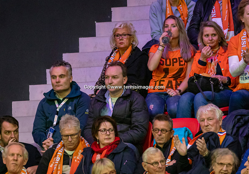The Hague, The Netherlands, Februari 7, 2020,    Sportcampus, FedCup  Netherlands -  Balarus, Seccond match on friday:  Janneke Hooijer (NED)<br /> Photo: Tennisimages/Henk Koster