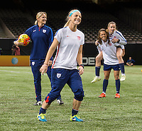 New Orleans, LA - December 15, 2015: The USWNT trained in preparation for their match against China during the Victory Tour at the Superdome.
