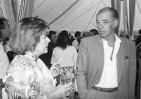 Montreal (qc) CANADA - file Photo - 1991 - <br /> <br /> <br />  - Festival Juste Pour Rire 1991 - Didier Farre (R)
