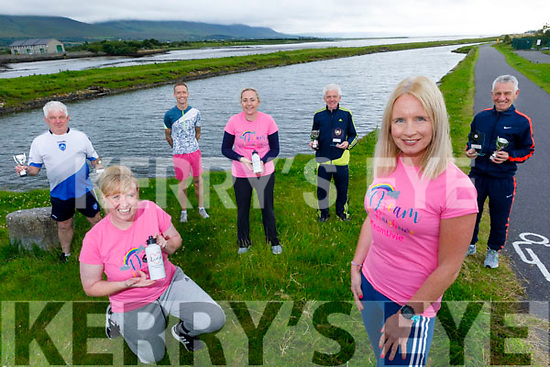Launching the Kerry Goes Pink For Livie virtual run/walk trying to raise money for Livie Mulhern who was diagnosed with Type 1 SMA Spinal Muscular Atrophy and need €2.1 million for treatment in the US.<br /> Front right: Michelle Greaney.<br /> Kneeling: Andrea O'Donoghue.<br /> Back l to r: Liam Griffin, Ollie O'Sullivan, Gda Mary Gardiner, John and Stephen Griffin.