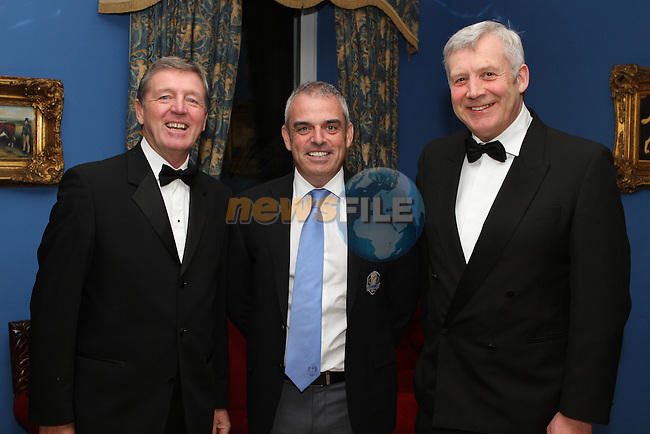 Des Smyth, European Ryder Cup Captain Paul McGinley and Minister for State Fergus O'Dowd at the Des Smyth Foundation Ball in the Boyne Valley Hotel, Drogheda...(Photo credit should read Jenny Matthews/NEWSFILE)...