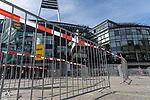 19.09.2020, wohninvest Weserstadion, Bremen, GER,  SV Werder Bremen vs Hertha BSC Berlin, <br /> <br /> <br />  im Bild<br /> <br /> Eingangsbereich mit Gittern für die Fans zum Einlass<br /> <br /> Foto © nordphoto / Kokenge<br /> <br /> DFL regulations prohibit any use of photographs as image sequences and/or quasi-video.