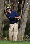 4 October 2008: Harrison Frazar hits a pitch shot from the woods during the third round at the Turning Stone Golf Championship in Verona, New York.