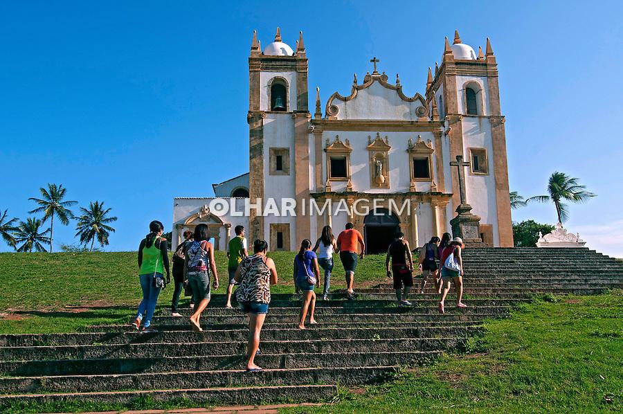 Turistas em visita a Igreja do Carmo em Olinda. Pernambuco. 2013. Foto de Joao Urban.