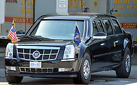 MIAMI, FL - FEBRUARY 25: U.S. President Barack Obama arrives on Air Force One at Miami International Airport  prior to his Immigration Town Hall meeting At FIU on February 25, 2015 in Miami, Florida<br /> <br /> People:  U.S. President Barack Obama