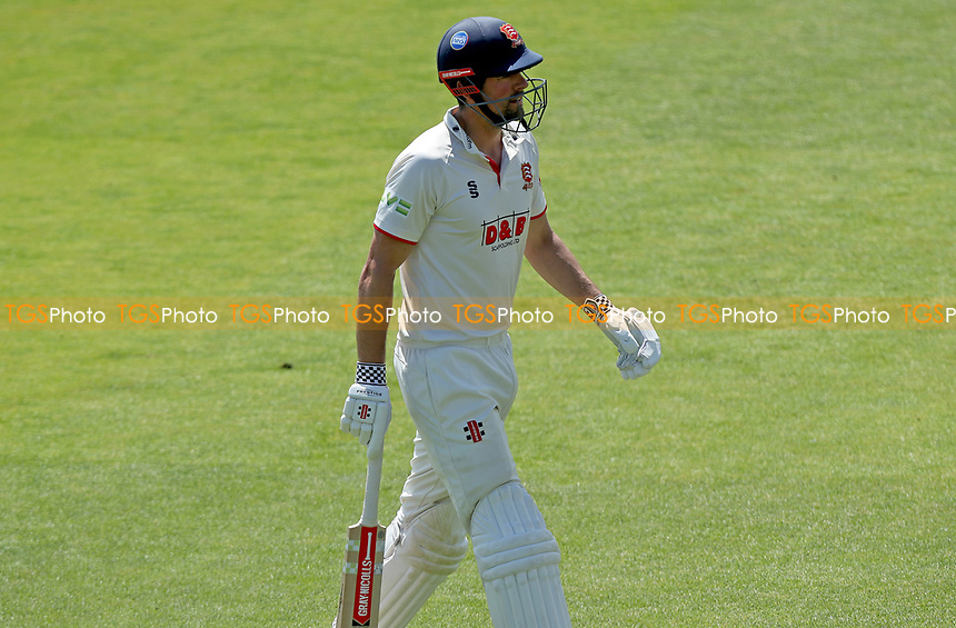 Sir Alastair Cook of Essex leaves the field having been caught out during Essex CCC vs Nottinghamshire CCC, LV Insurance County Championship Group 1 Cricket at The Cloudfm County Ground on 5th June 2021