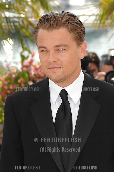"""Leonardo DiCaprio at photocall for his movie """"The 11th Hour"""" at the 60th Annual International Film Festival de Cannes. .May 19, 2007  Cannes, France..© 2007 Paul Smith / Featureflash"""