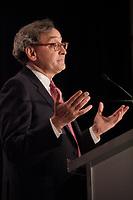 Montreal (Qc) CANADA - June 4 2012 -  Michael Sabia , CEO Caisse de Depot et Placements du Quebec speak at the Canadian Club of Montreal's podium