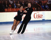 Debbie and Randy Burke of Canada compete at the 1977 Skate Canada in Moncton, Canada. Photo copyright Scott Grant