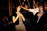 """'OXFORD UNIVERSITY' 1995, AT THE END OF THE 2ND THE OXFORD UNION HOLDS A """"FRESHERS FLING"""". STUDENTS SING KARAOKE, 1995"""