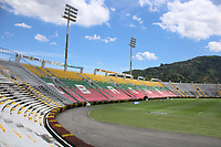 IBAGUÉ - COLOMBIA, 1-10-2020:Panorámicas del estadio Manuel Murilo Toro. Real San Andrés y Atlético Huila en partido de  vuelta de la segunda ronda de clasificación de la Copa Betplay DIMAYOR  jugado en el estadio Manuel Murillo Toro de la ciudad de Ibagué. /general view of the Manuel Murilo Toro stadium. Real San Andres and Atletico Huila  in the second leg of the second qualifying round of the DIMAYOR Betplay Cup played at the Manuel Murillo Toro  stadium in the city of Ibague. Photo: VizzorImage / Juan Jose Torres / Contribuidor