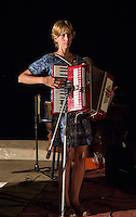Marie Diandy Plays for Dinner Guests, Biannual Arts Festival, Goree Island, Senegal.